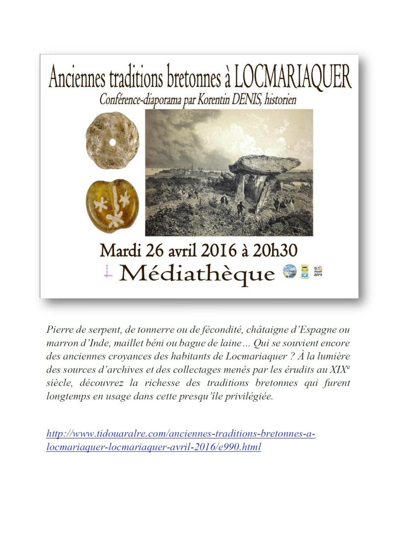 Conférence sur les traditions et croyances en Pays d'Auray Locmar10
