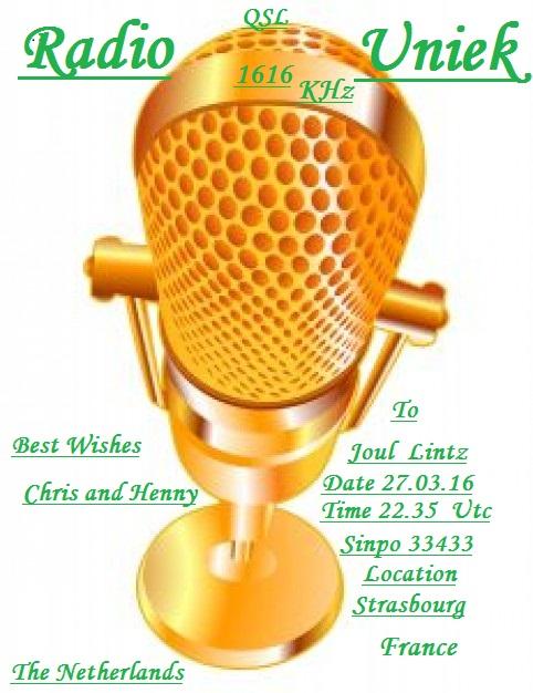 eQSL de Uniek Radio Gouden10