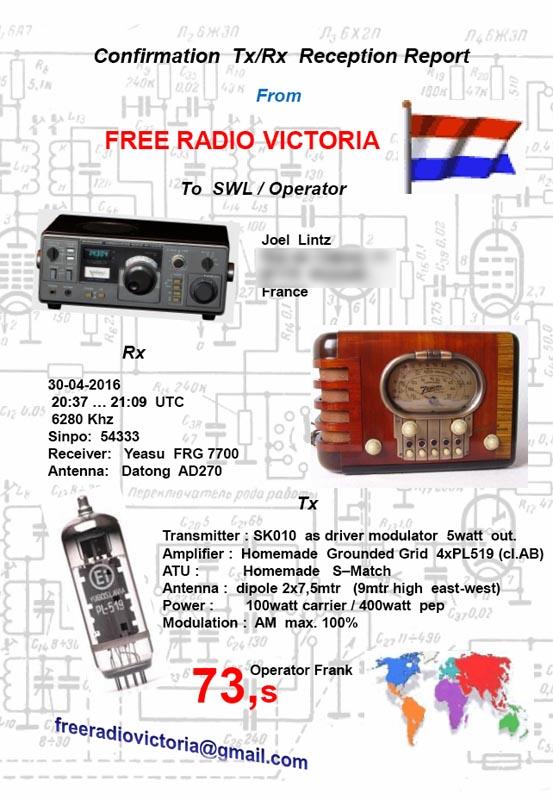 eQSLs de Free Radio Victoria Qslfrv11
