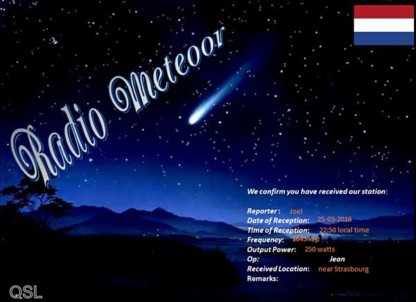 eQSL de Radio Meteoor Radio_10