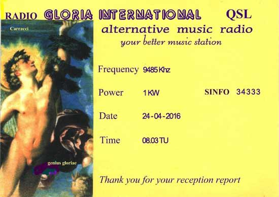 eQSL de Radio Gloria International Radio_13