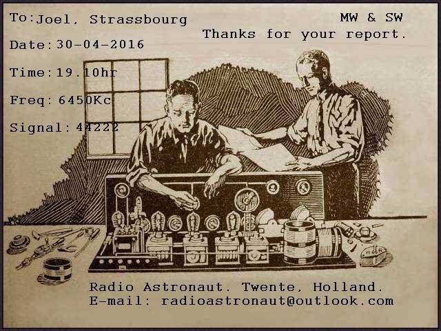 eQSL de Radio Astronaut Radio_14