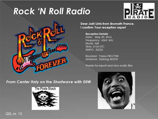 "eQSL de ""Rock'n Roll Radio"" Rrr55010"