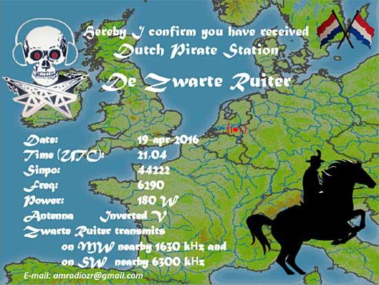 eQSL de Zwarte Ruiter Zwarte10