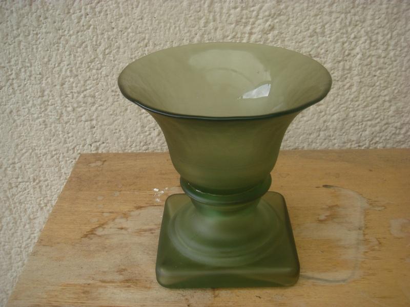 Opaque green glass vase...British 30's,Modern Chinese,TK Maxx ?/ Copied88