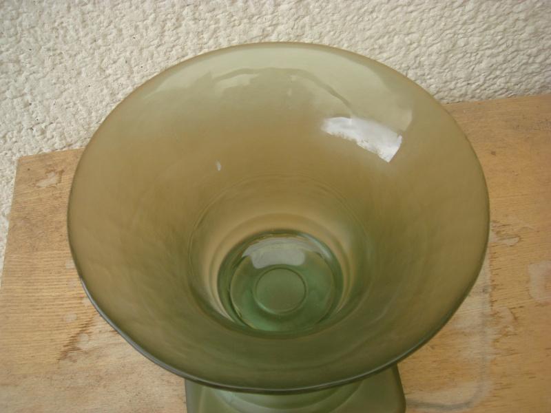 Opaque green glass vase...British 30's,Modern Chinese,TK Maxx ?/ Copied89