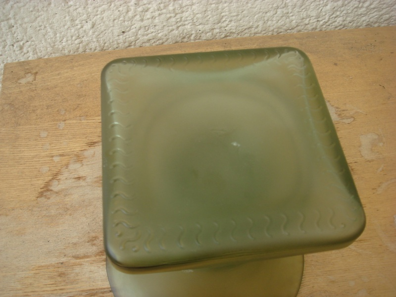 Opaque green glass vase...British 30's,Modern Chinese,TK Maxx ?/ Copied90