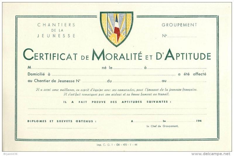 Certificat de Moralité et d'Aptitude Groupement 10 814_0010