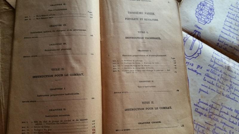 """Livre """"instruction sur la pratique du tir"""" de 1930 20160417"""