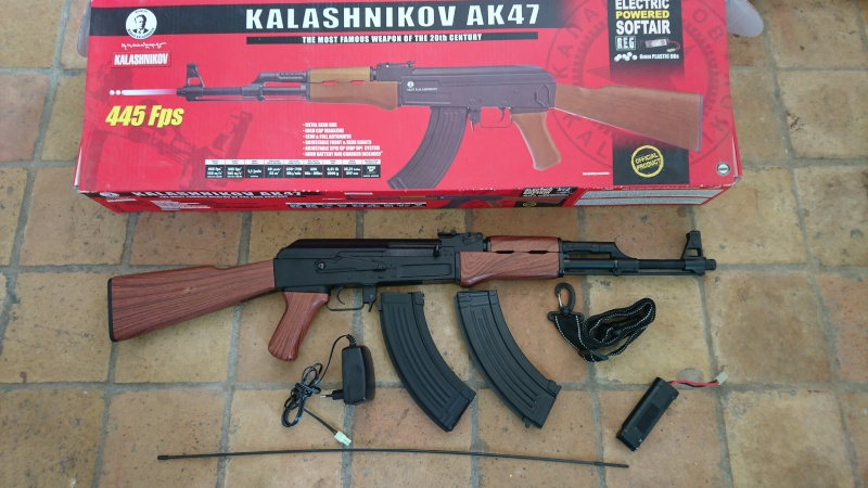 M4, AK47, WE 1911, KJ et Marui M9A1, replique SIG226 Kalash10