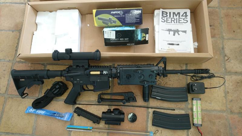 M4, AK47, WE 1911, KJ et Marui M9A1, replique SIG226 M4_jjb10