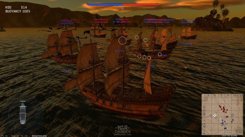 Navires sur War Thunder Shot_211