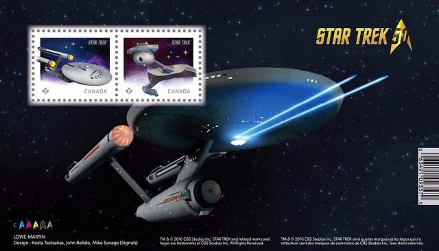 Emission d'une série pour les 50 ans de Star Trek par la poste canadienne - 5 mai 2016 2016_012