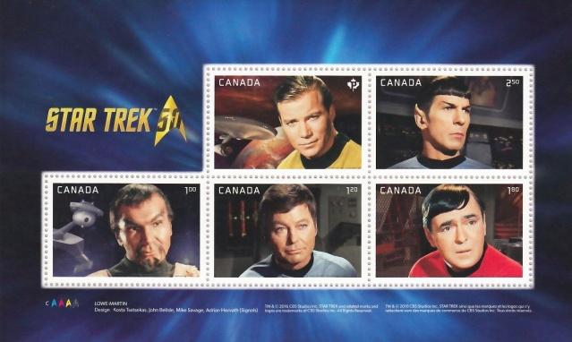 Emission d'une série pour les 50 ans de Star Trek par la poste canadienne - 5 mai 2016 2016_013