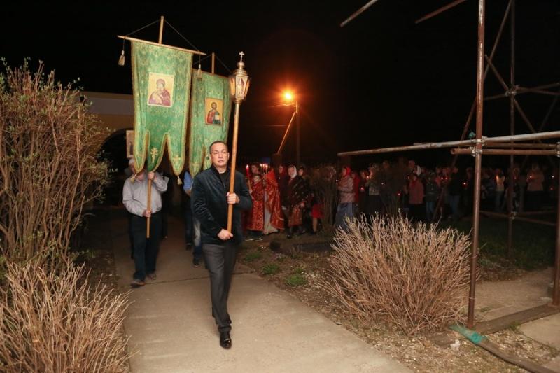 В Серпуховском районе верующие встретили Пасху  Krehod10