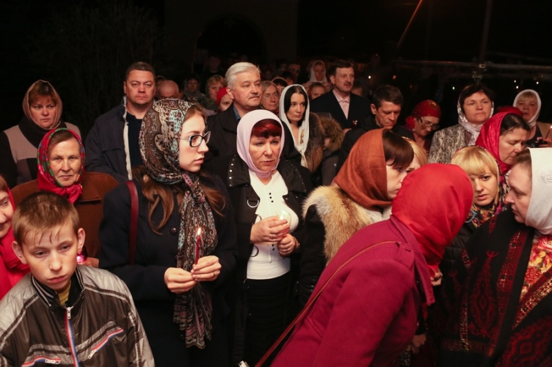 В Серпуховском районе верующие встретили Пасху  Krehod11