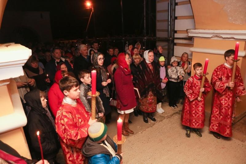 В Серпуховском районе верующие встретили Пасху  Krehod13
