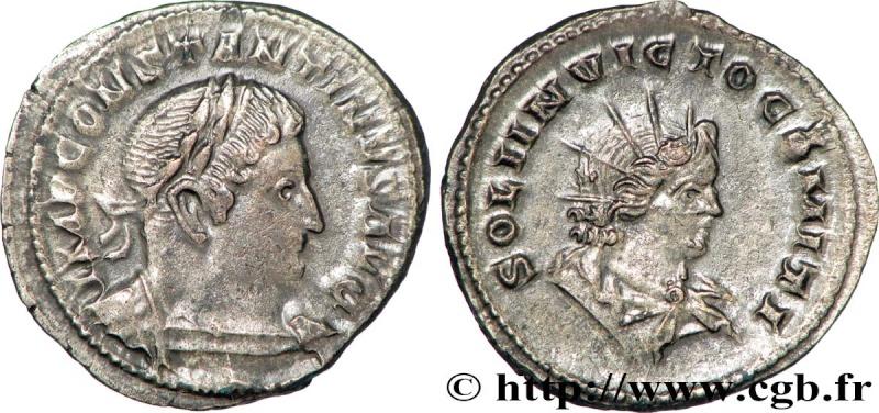 "Follis de Constantin 1er, ""SOLI INVICTO COMITI"", Trèves, RIC 893 Brm_3010"
