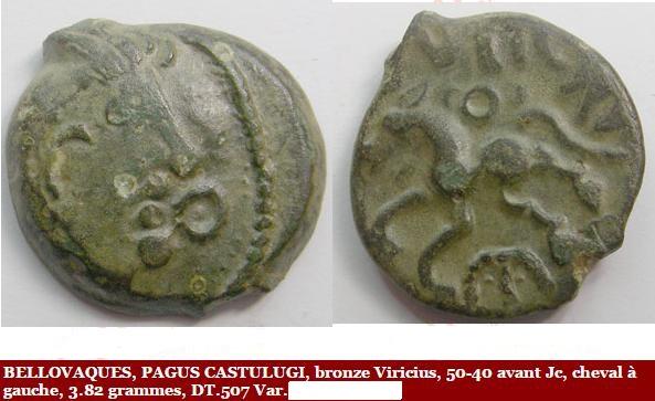 Romaine ? Non ! Bronze Viricius pour les Bellovaques, PAGUS CASTULUGI Mwsnap11