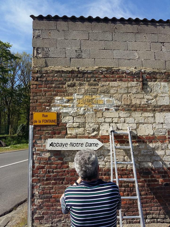 Reste d'un panneau allemand dans le secteur de lumbres 13138810