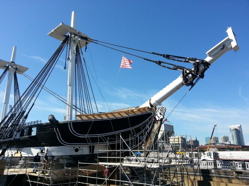 constitution - Visita alla USS Constitution (in cantiere per restauro). 20160513