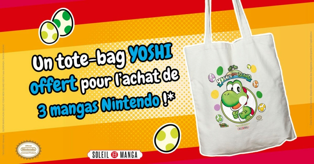 Soleil Manga vous offre des tote bags Yoshi Tote-b10