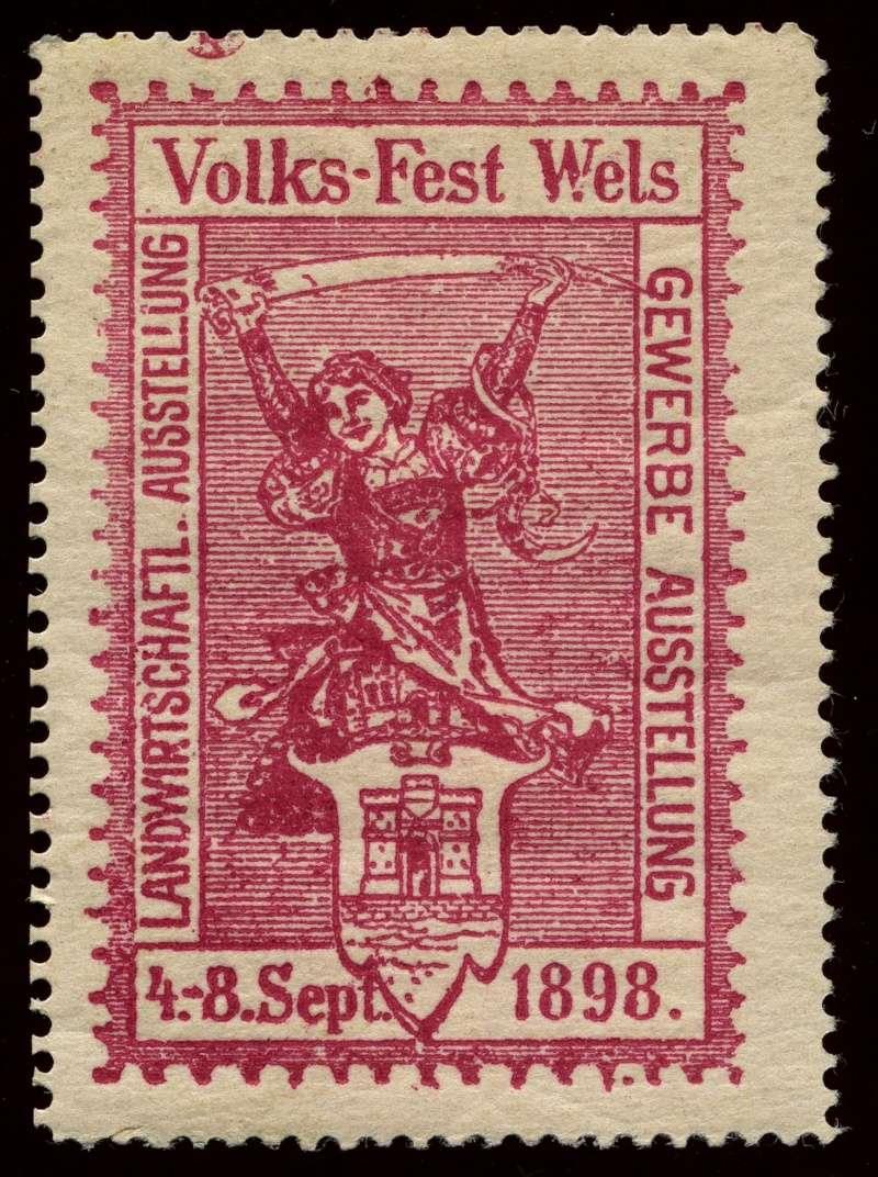 Nachlass-Sammlung Vignetten, etc. ab 1896 - Kaiserreich, usw. 1898_v10