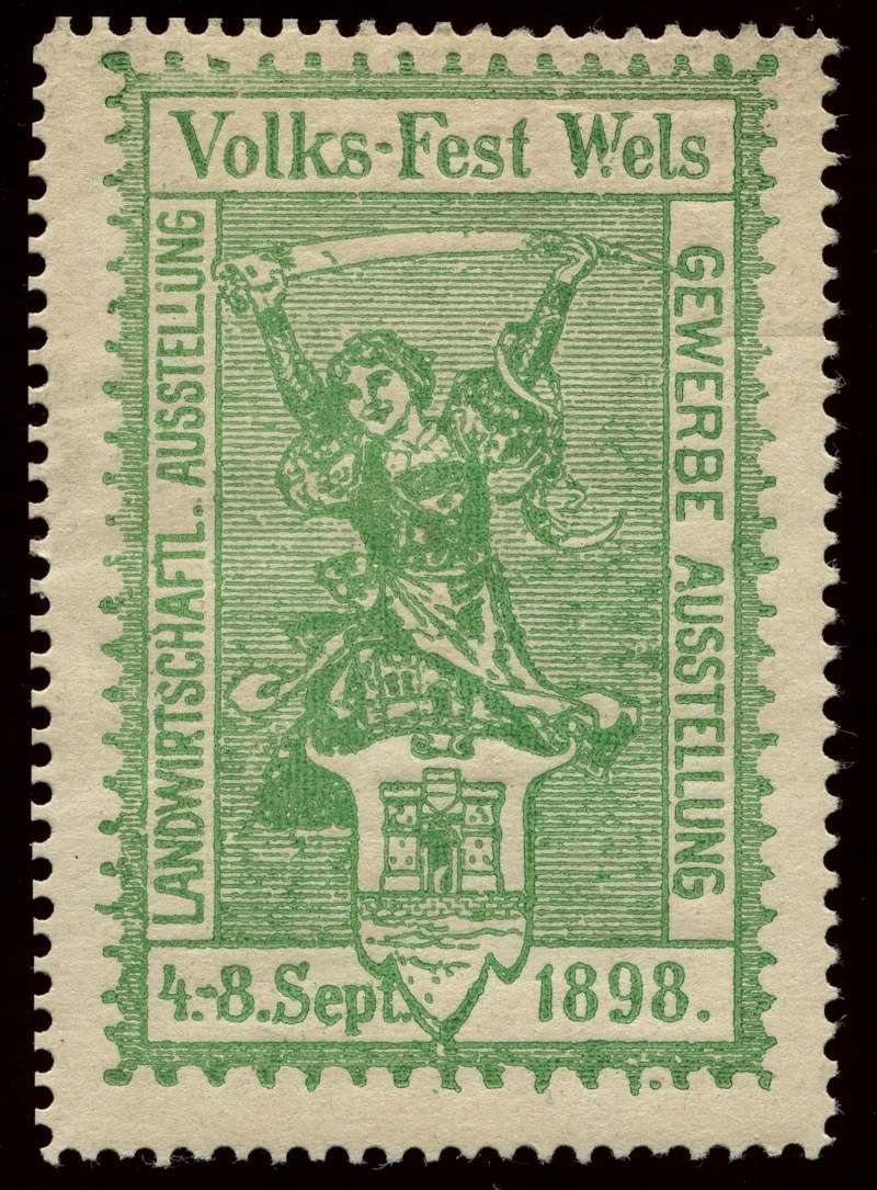 Nachlass-Sammlung Vignetten, etc. ab 1896 - Kaiserreich, usw. 1898_v12