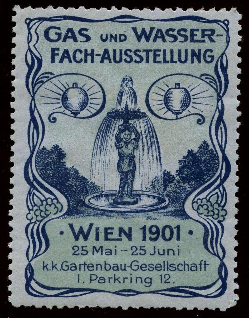 Nachlass-Sammlung Vignetten, etc. ab 1896 - Kaiserreich, usw. 1901_g10