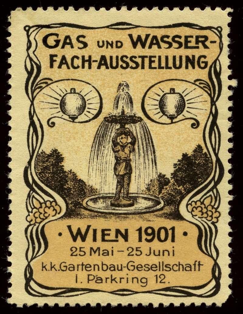Nachlass-Sammlung Vignetten, etc. ab 1896 - Kaiserreich, usw. 1901_g11