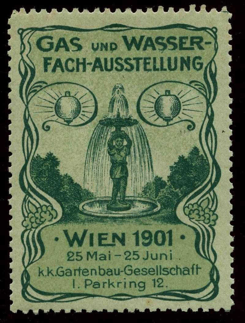 Nachlass-Sammlung Vignetten, etc. ab 1896 - Kaiserreich, usw. 1901_g12