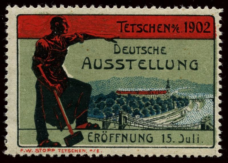 Nachlass-Sammlung Vignetten, etc. ab 1896 - Kaiserreich, usw. 1902_a10