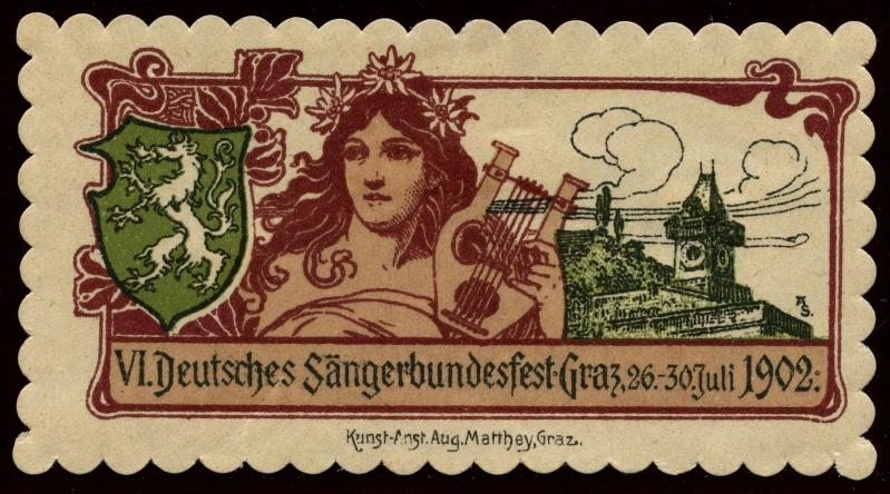 Nachlass-Sammlung Vignetten, etc. ab 1896 - Kaiserreich, usw. 1902_b10