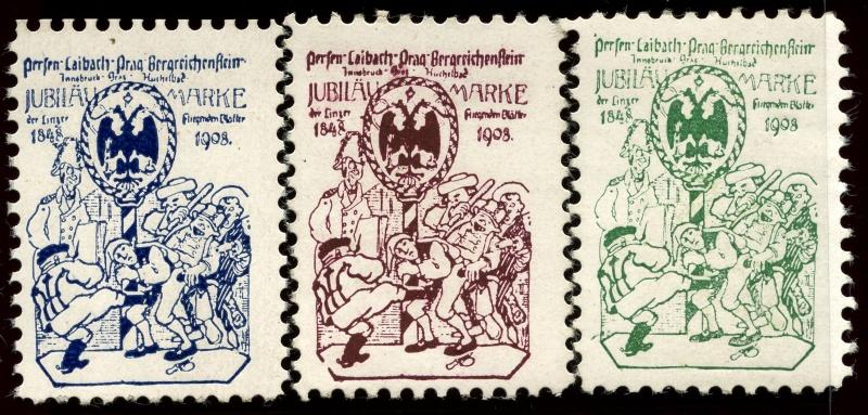 Nachlass-Sammlung Vignetten, etc. ab 1896 - Kaiserreich, usw. 1908_b10