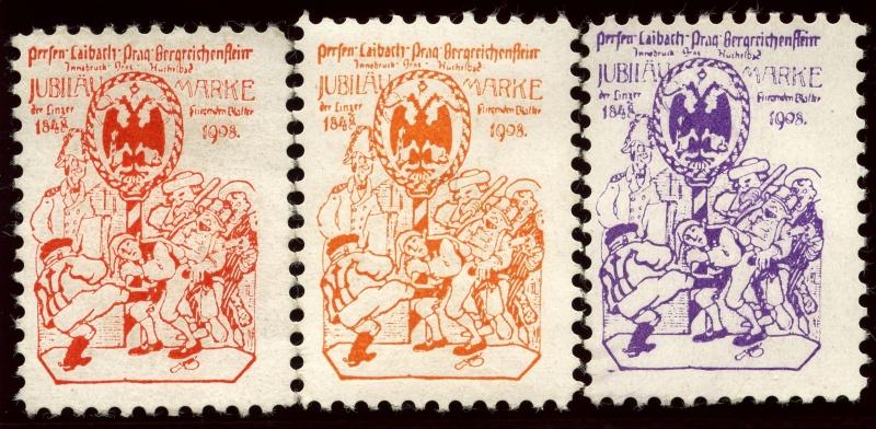 Nachlass-Sammlung Vignetten, etc. ab 1896 - Kaiserreich, usw. 1908_r10