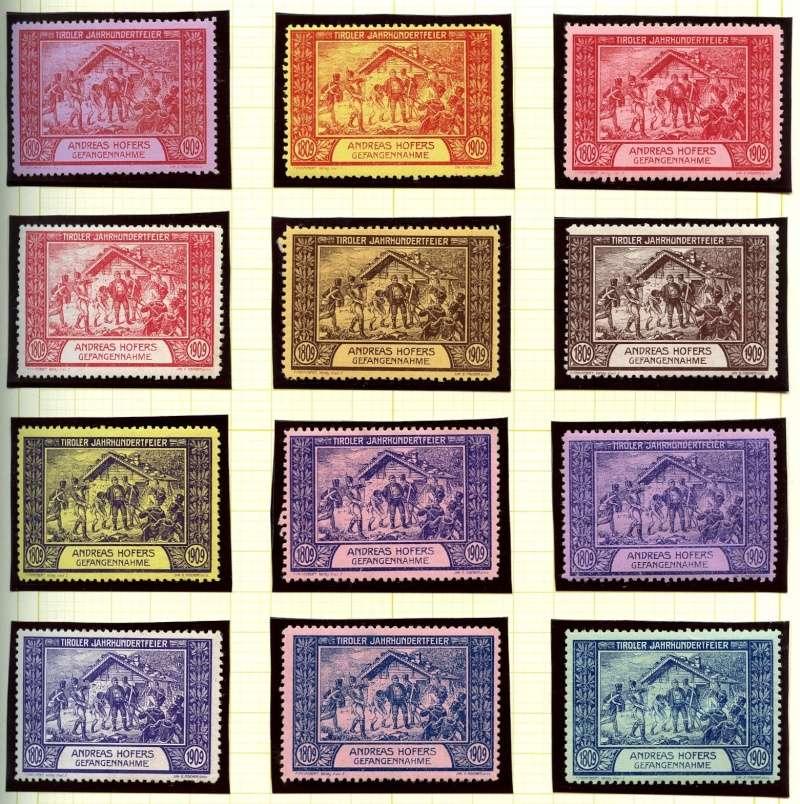 Nachlass-Sammlung Vignetten, etc. ab 1896 - Kaiserreich, usw. 1909_f10
