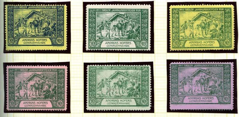 Nachlass-Sammlung Vignetten, etc. ab 1896 - Kaiserreich, usw. 1909_f11