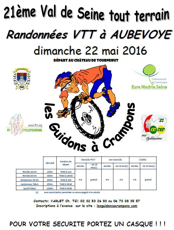 21ème Val de Seine Tout Terrain - 22 mai 2016 Affich13
