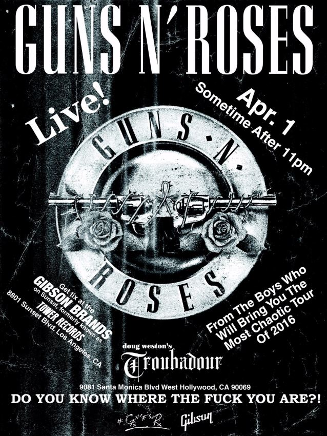 GUNS 'N' ROSES Gunsnr10