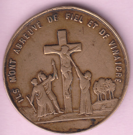 """medaille """"Ton âme est pesée jugée condamnée"""" Crucif12"""