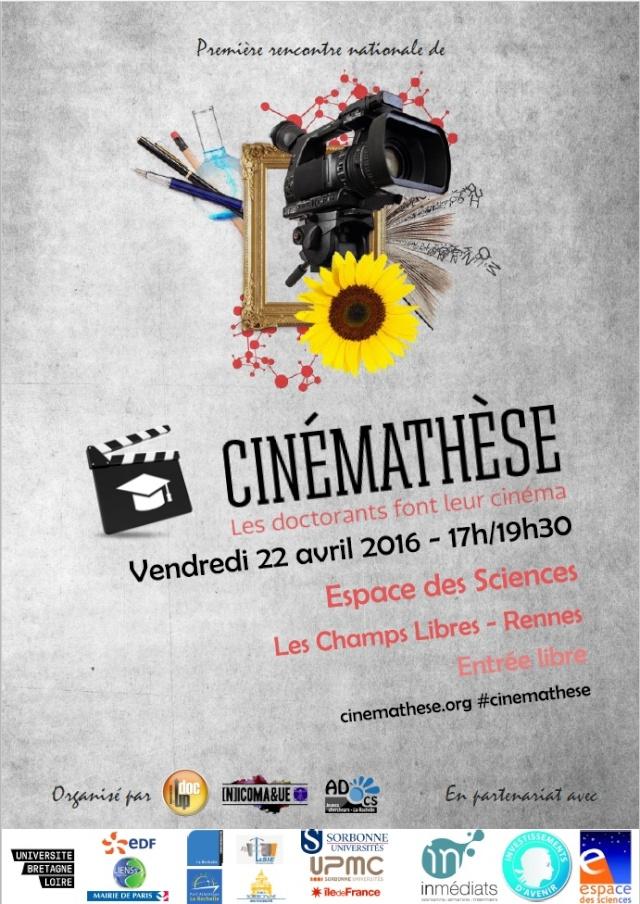 [22 Avril 2016, Rennes, aux Champs Libres] Les doctorants font leurs cinémas - Courts métrages scientifiques - Entrée libre ! Cinema10