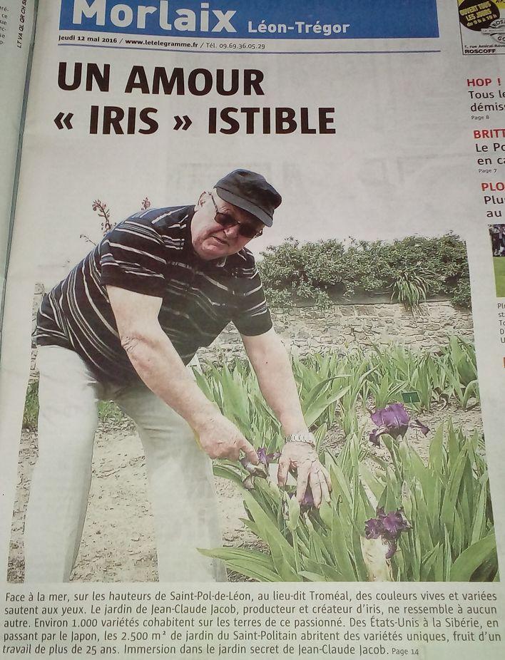 A la Une du journal Le Télégramme ! Jc110