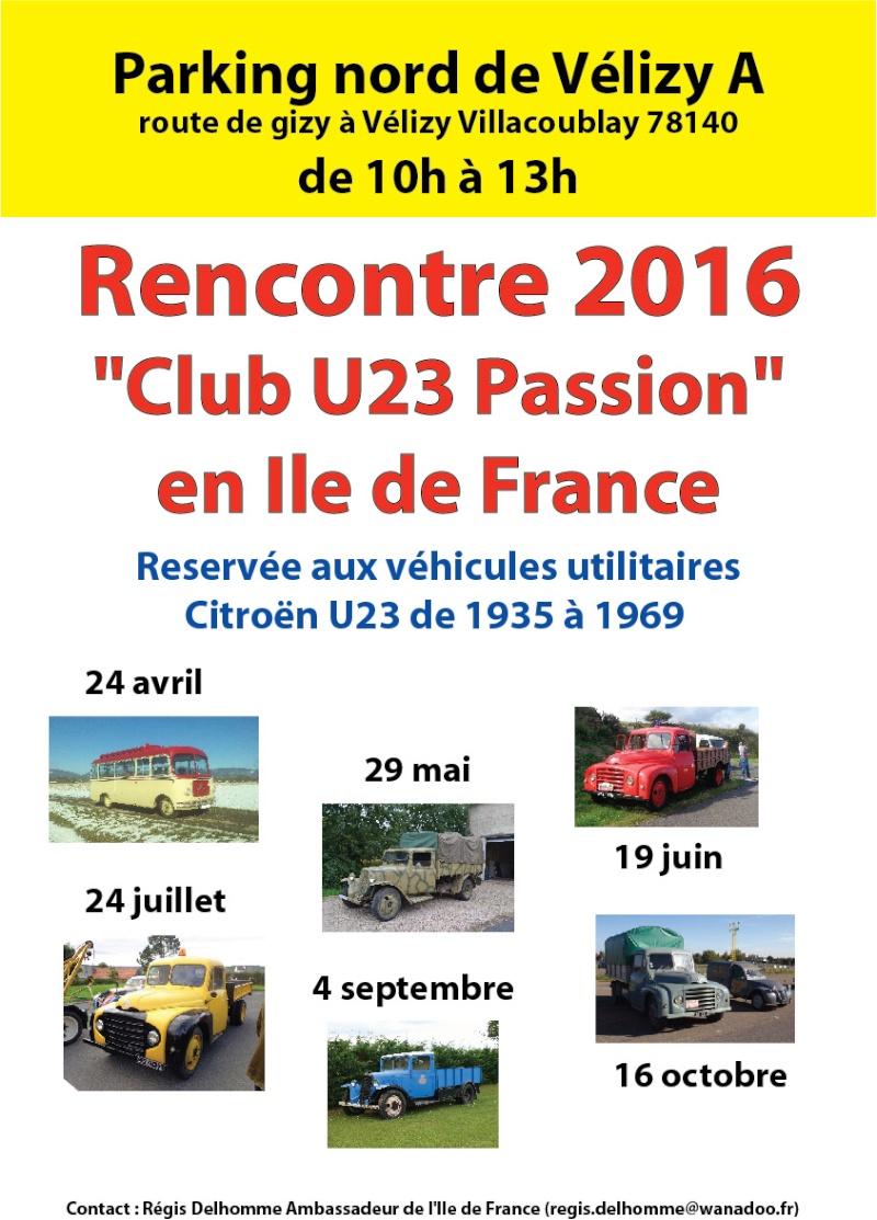 """Les rencontres du """"Club U23 passion"""" en Ile de France en 2016  Rencon14"""