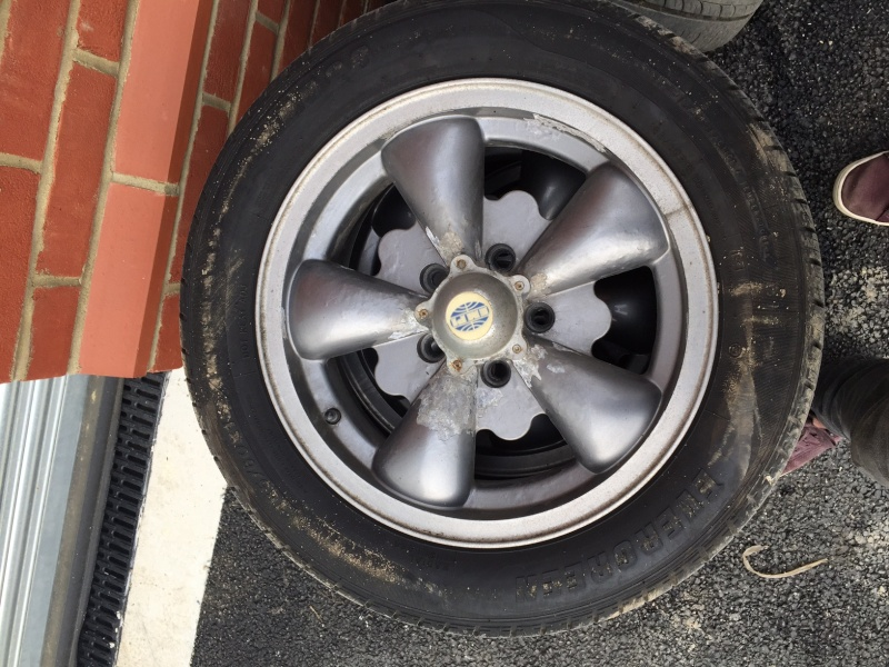Set of 4 x EMPI Wheels and Bridgestone Tires, collection only, £100 firm. Img_7910