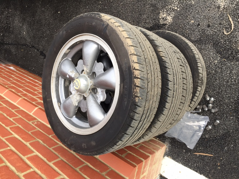 Set of 4 x EMPI Wheels and Bridgestone Tires, collection only, £100 firm. Img_7912