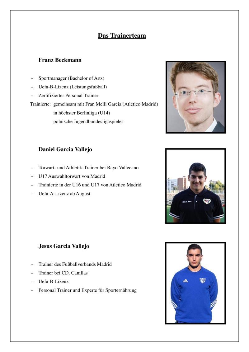 Torwart/Feldspieler Camp (26.-28. Juli) Traine13