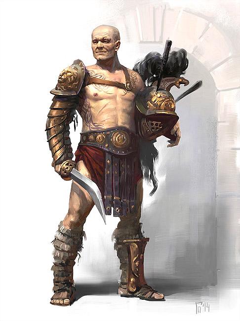 YH1833 Gladiators II 1st Century A.D par Pisco  fin Trace10
