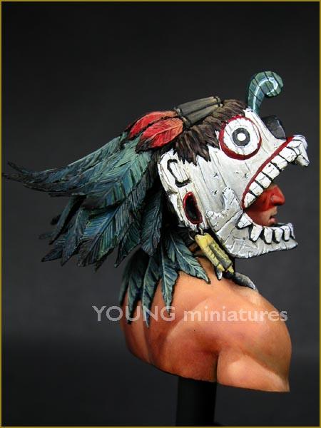 YH1819 Tlacochcalcatl par pisco _ comment faire des plumes de pamitl qd on sait pas en faire  Yh181913
