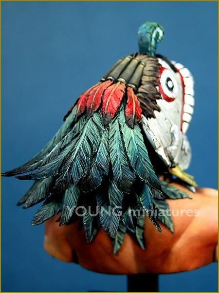 YH1819 Tlacochcalcatl par pisco _ comment faire des plumes de pamitl qd on sait pas en faire  Yh181917