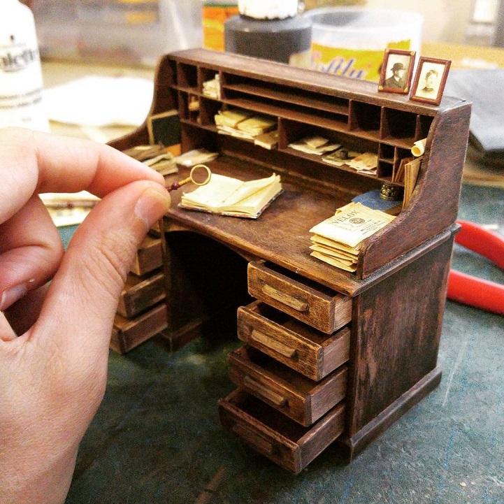 Réplique Miniature d'un studio photo, années 1900 Aliala10